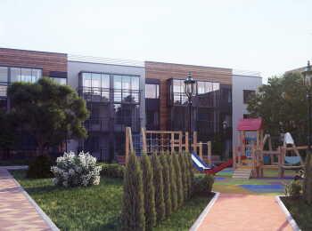 Озеленение территории, детская площадка